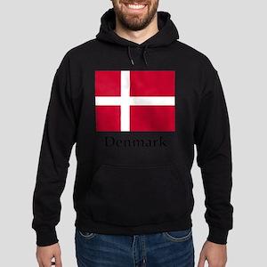 Denmark Flag Hoodie (dark)