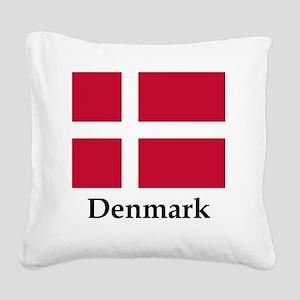 Denmark Flag Square Canvas Pillow
