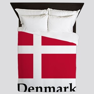 Denmark Flag Queen Duvet