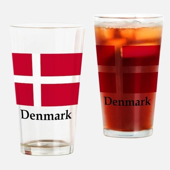 Denmark Flag Drinking Glass