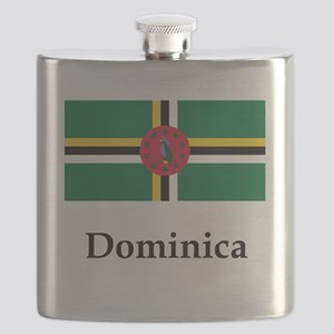 Dominica Flag Flask