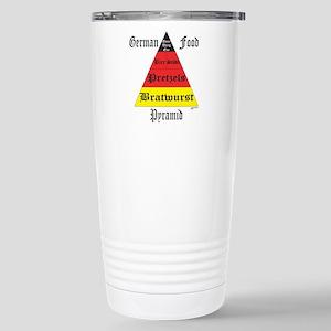 German Food Pyramid Stainless Steel Travel Mug
