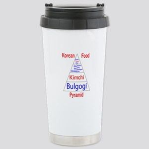 Korean Food Pyramid Stainless Steel Travel Mug