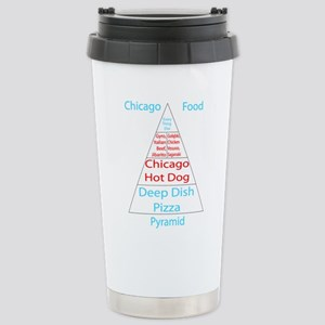 Chicago Food Pyramid Stainless Steel Travel Mug