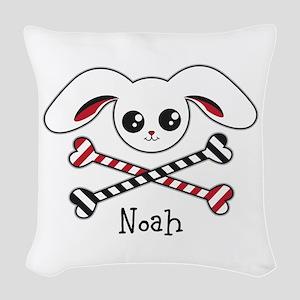 Pirate Bunny Woven Throw Pillow