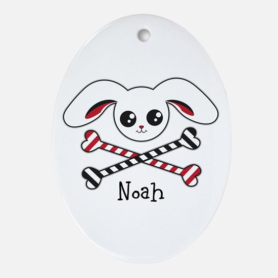 Pirate Bunny Oval Ornament