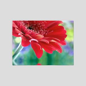 Red Daisy 5'x7'Area Rug