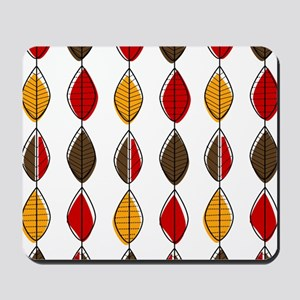 Mid-Century Modern Leaf Pattern Mousepad