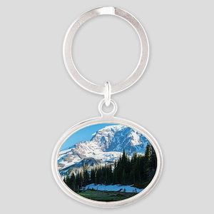 Mt. Rainier Oval Keychain