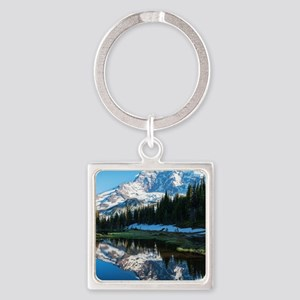 Mt. Rainier Square Keychain