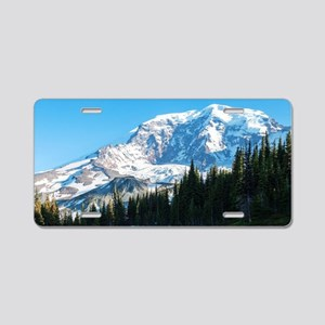 Mt. Rainier Aluminum License Plate