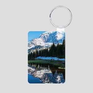 Mt. Rainier Aluminum Photo Keychain