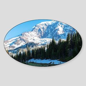 Mt. Rainier Sticker (Oval)