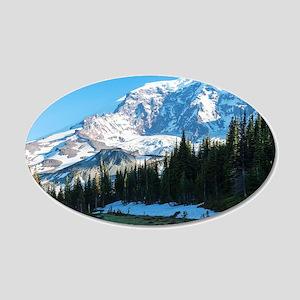 Mt. Rainier 20x12 Oval Wall Decal