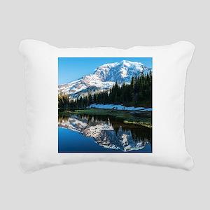 Mt. Rainier Rectangular Canvas Pillow