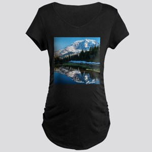 Mt. Rainier Maternity Dark T-Shirt