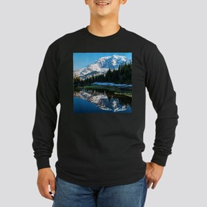 Mt. Rainier Long Sleeve Dark T-Shirt