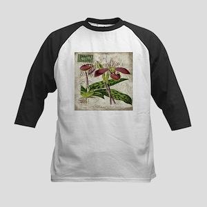 vintage french botanical orchid Baseball Jersey