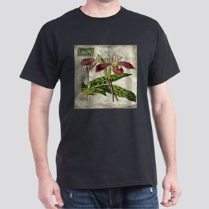 vintage french botanical orchid T-Shirt