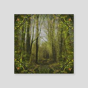 "Forest Trail Square Sticker 3"" x 3"""