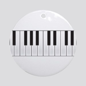 Piano Keys Round Ornament
