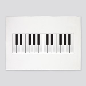 Piano Keys 5'x7'Area Rug