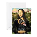 Mona's Doberman Greeting Cards (Pk of 20)