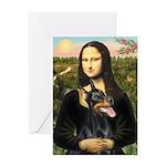 Mona's Doberman Greeting Card