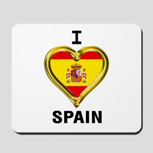 I HEART FLAG SPAIN Mousepad