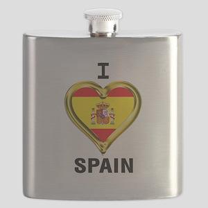 I HEART FLAG SPAIN Flask