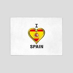 I HEART FLAG SPAIN 5'x7'Area Rug