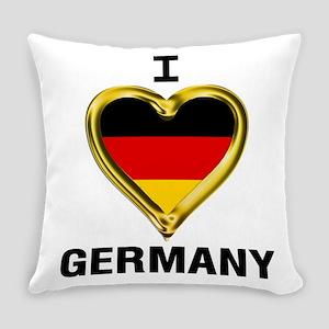 I HEART FLAG GERMANY Everyday Pillow