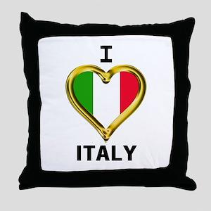 I HEART FLAG ITALY Throw Pillow