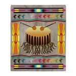 Lonely Drum Indian Throw Blanket
