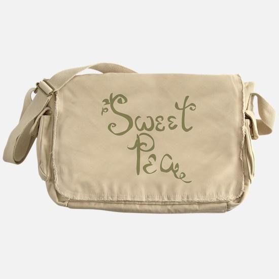 Sweet Pea Fun Quote Endearment Messenger Bag