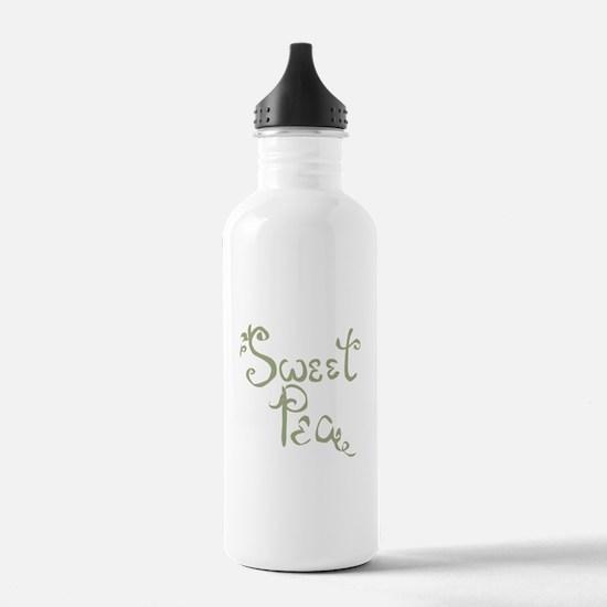 Sweet Pea Fun Quote Endearment Water Bottle