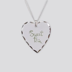 Sweet Pea Fun Quote Necklace Heart Charm