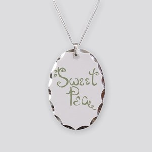 Sweet Pea Fun Quote Endearment Necklace Oval Charm