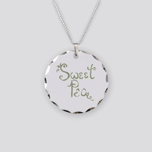 Sweet Pea Fun Quote Necklace Circle Charm