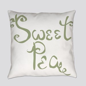 Sweet Pea Fun Quote Endearment Everyday Pillow