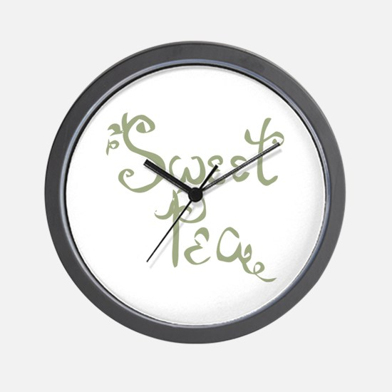 Sweet Pea Fun Quote Endearment Wall Clock