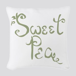 Sweet Pea Fun Quote Endearment Woven Throw Pillow