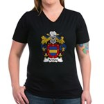Arrieta Family Crest Women's V-Neck Dark T-Shirt