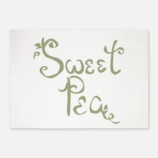 Sweet Pea Fun Quote Endearment 5'x7'Area Rug
