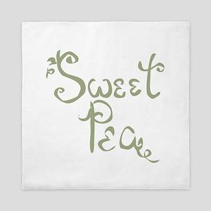 Sweet Pea Fun Quote Endearment Queen Duvet