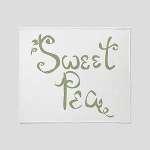 Sweet Pea Fun Quote Endearment Throw Blanket