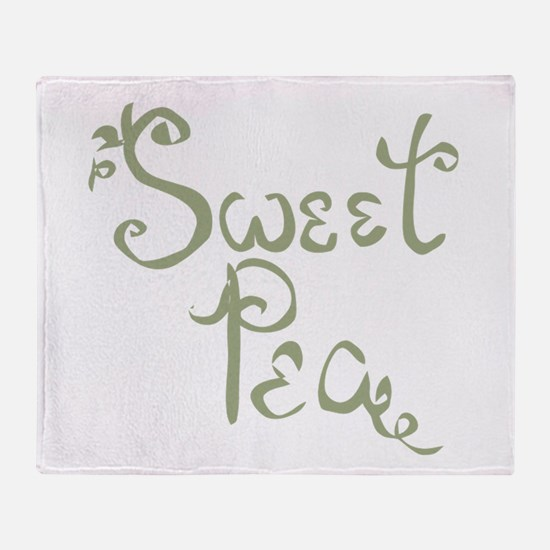 Sweet Pea Fun Quote Endearment Throw Blanket