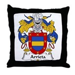 Arrieta Family Crest Throw Pillow