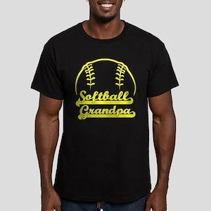 SOFTBALL GRANDPA Men's Fitted T-Shirt (dark)