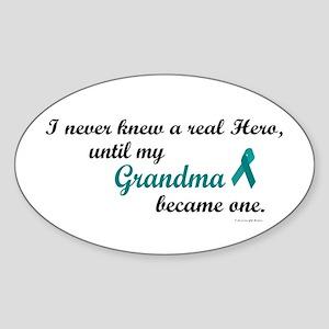 Never Knew A Hero OC (Grandma) Oval Sticker